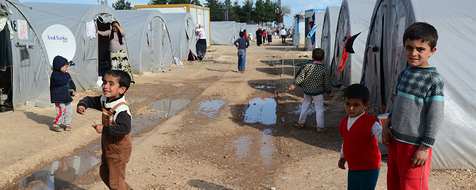 Syrians in a refugee camp in Suruc, Turkey.