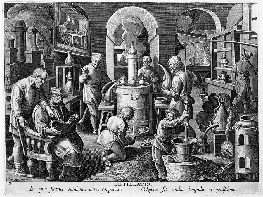 Scene in a Chymist's Laboratory.
