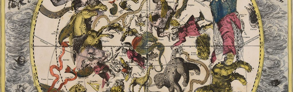 Map of the constellations by Andreas Cellarius