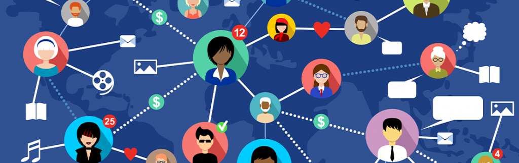 graphic representing social media connections