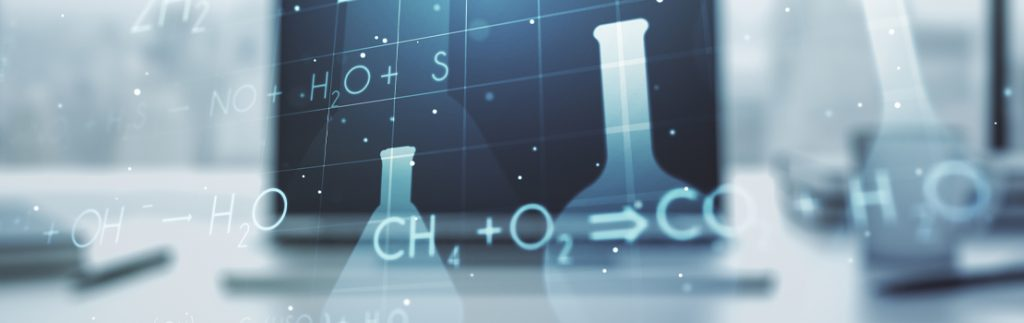 a screen showing a number of chemical formulae
