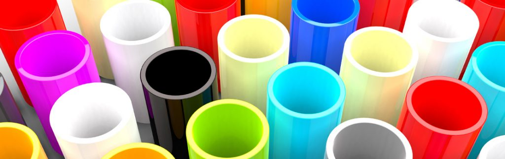 an array of plastic tubes